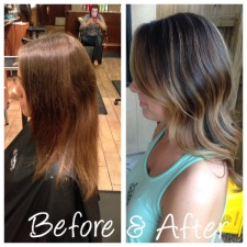 Cool toned blonde ombre