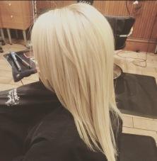 Blonde using Olaplex at Razmataz