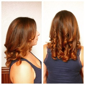 Warm coppery balayage by Jessica