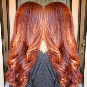 Warming up for fall, balayage by Crystal