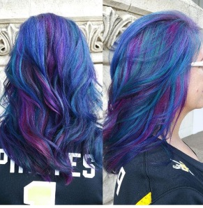 Stunning peacock colors by Shelby