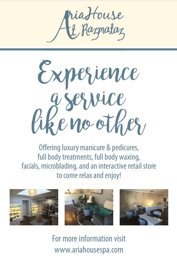 Aria house spa open house flyer 2